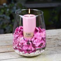 PURE pære stearinlys 130/70 Rosa dekorativt lys bærekraftig naturlig voks