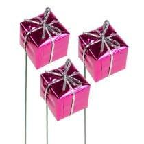 Pakke 2,5cm på ledning Rosa 60stk