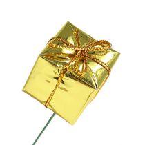 Pakke 2,5 cm på wire gull 60stk