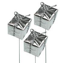 Pakke på wire sølv 2,5cm 60stk