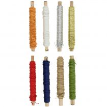 Papirledningstråd viklet rundt Ø0,8mm 22m farget