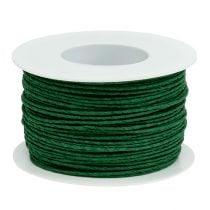 Papirkabeltråd viklet rundt Ø2mm 100m grønt
