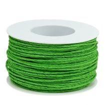 Papirledningstråd viklet rundt Ø2mm 100m eplegrønn