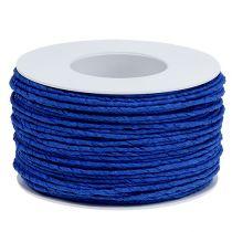 Papirledning ledet inn i tråd Ø2mm 100m blå