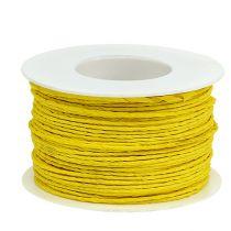 Ledningspapir innpakket Ø2mm 100m gul