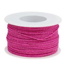 Ledningspapir innpakket i Ø2mm 100m rosa