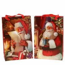 Gaveposesett Julemotiv Santa Red 20cm × 30cm × 8cm