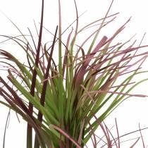 Sedge gress i en potte kunstig grønn, rød lilla 45cm