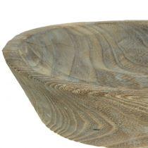 Dekorativ bolle Paulownia tre oval 44cm x 19cm H8cm