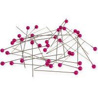 Perlehodepinner Ø6mm 65mm rosa