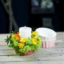 Planter bakepanne, kakeform for planting, keramisk gryte H5cm Ø12,5cm 3stk