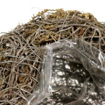 Plantehjerte laget av vinstokker og lavnatur 25cm x 19cm