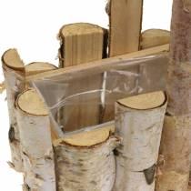 Birkegren plantekurv med håndtak 24x14,5cm H25,5cm