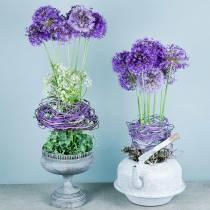 Planteskål beger antikk utseende grå Ø21cm H21cm