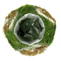 Planteskål laget av mose Ø28cm