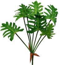 Philodendron plante kunstig grønn 58cm