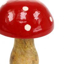 Toadstool laget av tre rød 15,5cm