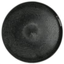Plastplatesett med 2 grå Ø22cm - 27cm