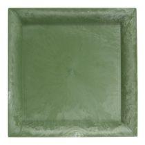 Plastplate grønn firkant 19,5 cm x 19,5 cm