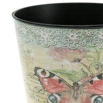 Dekorativ gryte vintage sommerfugl Ø17cm