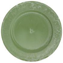 Presentasjonsplate grønn Ø25cm