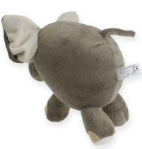 Plysj elefant 20cm grå