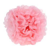 Pomponpapir Ø30cm lys rosa 5stk