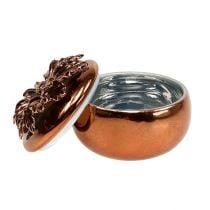 Porselenburk kobber Ø7,5cm H6cm
