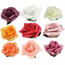 Foam-Rose Ø3,5cm forskjellige farger 48stk