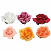 Foam-Rose Ø4,5cm forskjellige farger 36stk