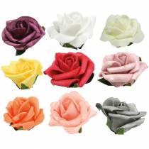 Foam-Rose Ø6cm forskjellige farger 27stk