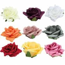 Foam-Rose Ø7,5cm forskjellige farger 18stk