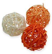 Rottingkuler 4,5cm oransje aprikos 30stk