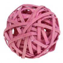 Rottingkule rosa Ø4cm 12stk