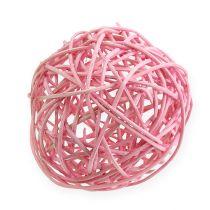 Rottingkule Ø10cm rosa 10stk