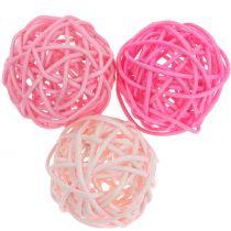 Rotting ball rosa blanding Ø5cm 18stk