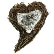 Vineplante hjerte hjerte 15cm x23cm x5cm 4stk