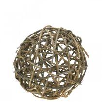 Deco ball grapevine natur mørk Ø20cm