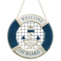 Dekorativ livbøye, maritim, flytende ring for å henge opp Ø14cm