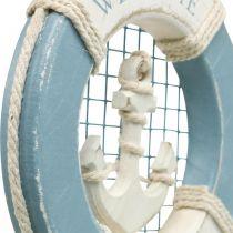 Maritim dekorasjon, livbøye med anker, dekor svømming ring Ø14cm