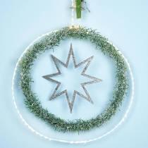 Ring med mikro LED Ø38cm varmhvit 125L hvit For utvendig og innvendig