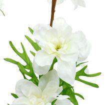 Delphinium kunstig hvit 95cm