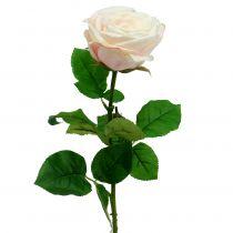 Kunstig rosekrem 69cm