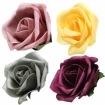 Foam Rose Ø15cm forskjellige farger 4stk