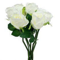 Rose hvit Ø6cm L30cm 6stk
