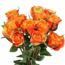 Rose Orange 42cm 12stk