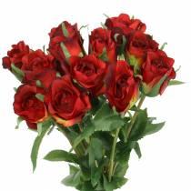 Roserød 42cm 12stk