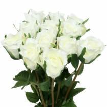 Rose hvit 42cm 12stk