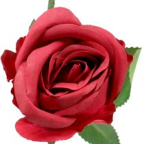 Rose rød 44cm 6stk