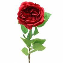 Rose kunstig blomst rød 72cm